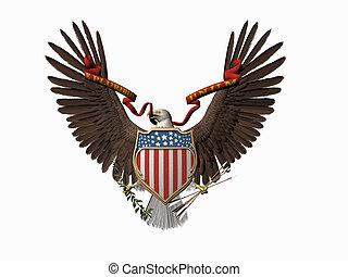 American great seal, E pluribus unum. - Accipitridae, the...