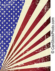 American grunge Flag - A patriotic background for you.