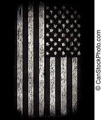 American grunge flag. An american grunge flag for a...