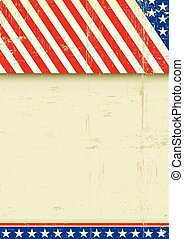 American grunge poster flag