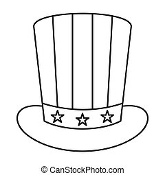 American hat icon, outline style