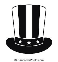 American hat icon, simple style