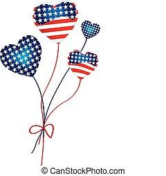 American Hearts Balloons