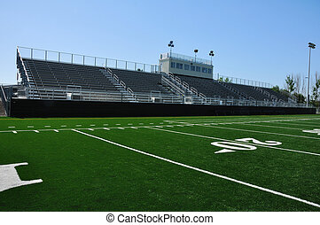 American High School Football Stadium - Bleachers of...