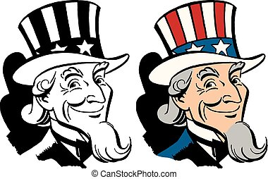 Uncle Sam - American icon and symbol of freedom Uncle Sam