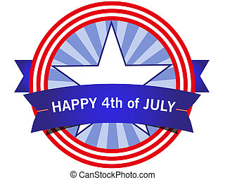 American icon Fourth of July - American icon. HAPPY Fourth...