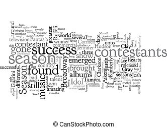 American Idol Contestants text background wordcloud concept