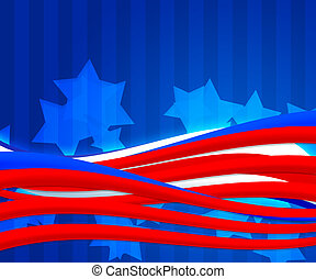 American Independence Day Abstract Background