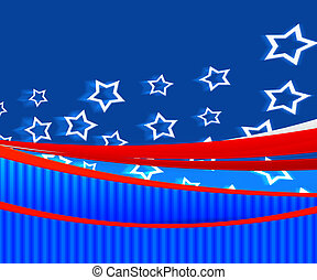 American Independence Day Blue Background