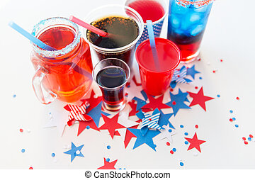 drinks on american independence day party - american...