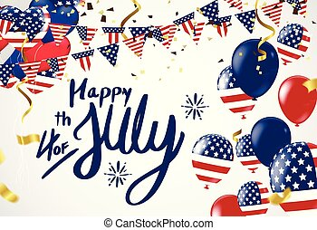 American Independence Day. Festive vector illustration EPS 10. Background Vector. Ready for  Design