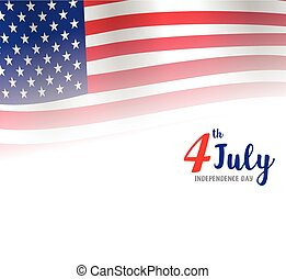 American Independence Day of 4th July