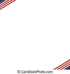 American Independence Day Patriotic background. Vector Flat design