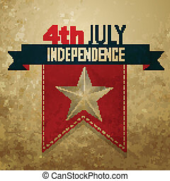 american independence day - vector 4th of july american...
