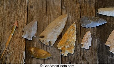 American Indian Arrowheads. - Real American Indian...