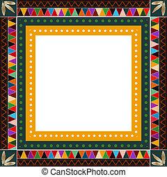 American Indian border - Native American Indian motif border...