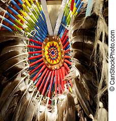 Ceremonial feathers of the Northern American Cherokee.