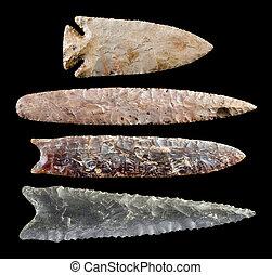 American indian flint arrowheads. -  Real American Indian ...