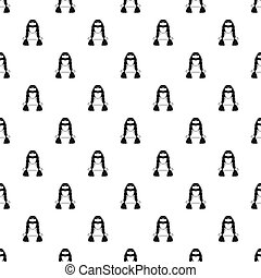 American indian girl pattern, simple style