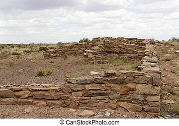 American Indian Ruins - Ruins of an American Indian village ...