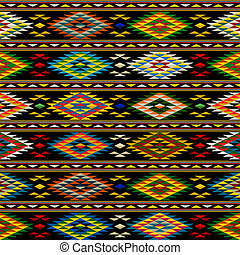 American Indian seamless pattern design in colors