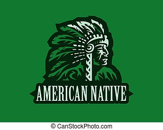 American Indian. Vector illustration.