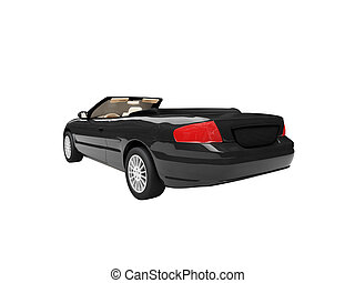 american isolated car back view 01