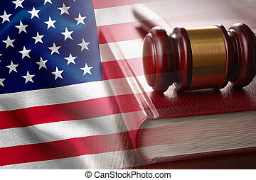 American justice and judiciary concept