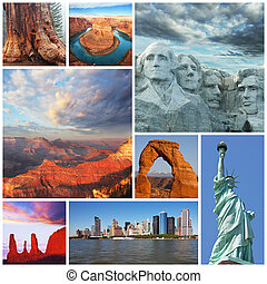American landscapes collage