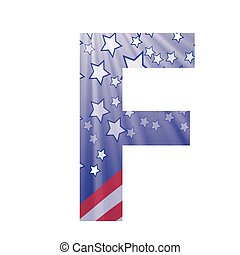 american letter F