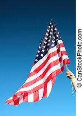 american lobogó, hatalom kezezés
