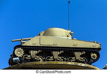 American M4 Sherman tankl - American M4 Sherman, one of the ...