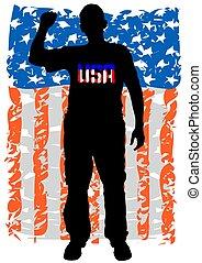 American man three