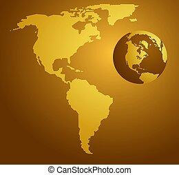 American map and globe design.