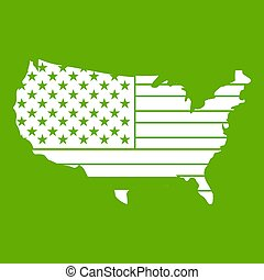 American map icon green