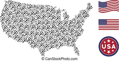 American Map Stylization of Trident Fork
