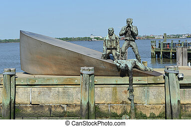 American Merchant Marines Memorial in New York City. The ...