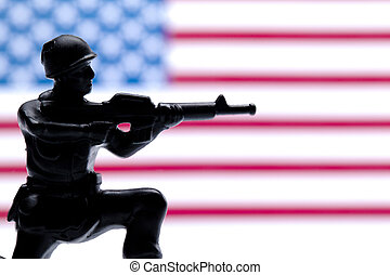 american military  toy soldiers
