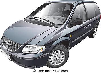 American minivan - Detail vector image of American minivan,...