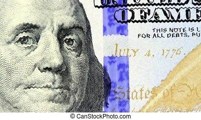 American money hundred dollar bill