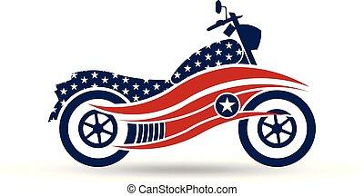 American Motorcycle USA Logo Illustration