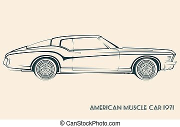 Cars muscle 70s. Cars 70s clip art vector - Search ...