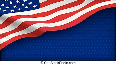 American nation banner with national flag