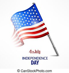 American national flag, for independents day celebration....