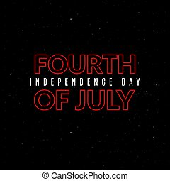 American national holiday banner. 4th of july poster...