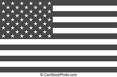 American National official political flag. icon flat design...