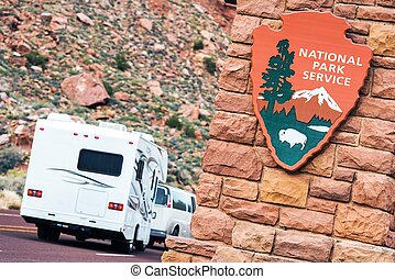 American National Parks RV Journey. National Park Service...