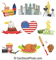 American National Symbols Set