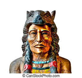 American native indian statue