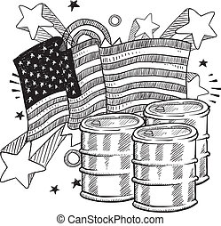 American oil dependency sketch